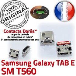 inch Pins USB ORIGINAL T560 TAB Micro Connecteur Galaxy charge SM Connector Dock de Samsung Prise SM-T560 à Chargeur 9 Dorés E souder