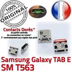 Fiche T563 Chargeur TAB-E à Qualité SM-T563 Galaxy Connector SLOT E Samsung ORIGINAL SM Dorés de charge TAB Prise Dock MicroUSB souder Pins USB