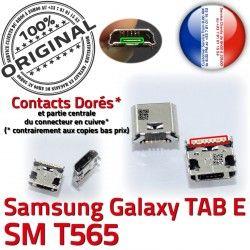 Dorés Pins Samsung Qualité TAB-E TAB à SLOT de Connector Chargeur ORIGINAL souder Fiche charge SM-T565 Galaxy E SM USB MicroUSB Prise Dock T565