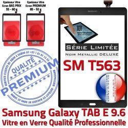 Ecran Vitre TAB E Noir Tactile T563 Verre Metal Qualité SM Noire Assemblée Adhésif Prémonté TAB-E SM-T563 9.6 PREMIUM Metallic N Samsung Galaxy