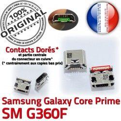 SM-G360F Qualité charge Chargeur Connecteur Connector Samsung ORIGINAL à Prise souder Dorés Micro Charg SM Prime Galaxy USB de Pins G360F Core