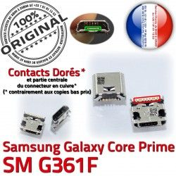 de Samsung MicroUSB G361F Connector ORIGINAL Dock Galaxy Pins souder Dorés Micro Chargeur à SM-G361F Qualité Core SM Fiche Prime charge USB Prise
