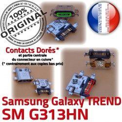 Connector Dorés Prise de Galaxy Samsung SM-G313HN Connecteur Chargeur SM G313HN souder à TREND Charge USB Qualité ORIGINAL Pins charge Micro DUOS