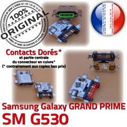 Charge de Qualité Prise SM à GRAND Micro PRIME Galaxy Doré USB charge G530 ORIGINAL Samsung Chargeur Connecteur Connector SM-G530 souder