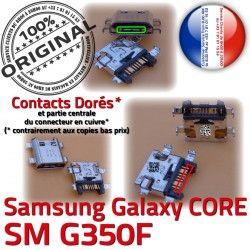 Qualité Galaxy Dorés SM-G350F Connecteur ORIGINAL de Micro USB Samsung Charge charge Pins Chargeur Prise souder G350F Connector Plus SM Core à