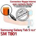 SM-T801 Micro USB TAB-S Charge Dorés Lecteur Nappe SM Réparation SD T801 ORIGINAL Qualité Contacts Galaxy de Chargeur TAB Samsung Connecteur S