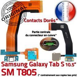 T805 Qualité Carte S SD Chargeur SM Nappe Micro Galaxy Mémoire Connecteur SM-T805 Lecteur TAB de USB PORT Samsung Charge ORIGINAL TAB-S