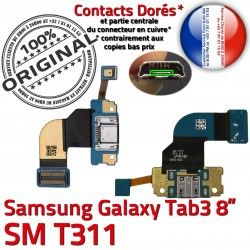 Charge SM-T311 Contacts Galaxy Qualité de Réparation ORIGINAL TAB Dorés Nappe MicroUSB SM Ch T311 TAB3 3 OFFICIELLE Chargeur Samsung Connecteur