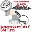 Samsung Galaxy TAB 3 SM-T315 Ch Chargeur ORIGINAL MicroUSB Charge TAB3 Dorés Réparation de Connecteur Contacts OFFICIELLE Qualité Nappe