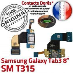 TAB3 SM-T315 Qualité Charge Nappe Connecteur USB SM Réparation Samsung Chargeur T315 Galaxy ORIGINAL 3 Prise Fiche Port de Microphone MicroUSB TAB