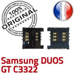 c3322 S SLOT Dorés à Card ORIGINAL Pins Contacts souder SIM OR Prise Samsung Reader Connector Carte GT Lecteur Duos Connecteur