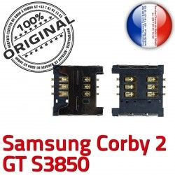 Prise ORIGINAL Corby S Carte Lecteur souder s3850 Connector Pins Dorés 2 Card SIM SLOT Contacts GT à Reader Samsung OR Connecteur