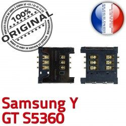 SLOT Prise Samsung Reader Dorés OR Contacts Carte Y souder GT Pins à Card ORIGINAL S Galaxy Connecteur s5360 SIM Lecteur Connector