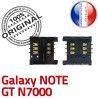 Samsung Galaxy Note GT N7000 S ORIGINAL Reader Carte Card Dorés Pins SLOT souder à Connecteur SIM Contacts Connector Lecteur