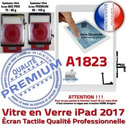 Oléophobe A1823 Adhésif AIR Blanc Nappe Caméra Monté Fixation HOME Ecran iPad Vitre Tablette Réparation Tactile Qualité Verre IC