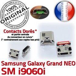 Chargeur charge Grand i9060i NEO à Galaxy USB souder Pin Dock Connecteur Micro Doré Connector Qualité ORIGINAL Prise GT Samsung
