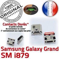 de Galaxy Dock Qualité Connector USB i879 Prise Dorés GT Micro à ORIGINAL Grand Connecteur Chargeur charge Samsung souder Pins