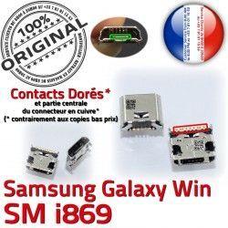 à Win Pins Connector Fiche Galaxy Qualité SLOT Samsung charge Chargeur GT-i869 USB Dock MicroUSB de Prise ORIGINAL Dorés souder