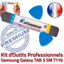 iLAME Ecran SM Vitre Tactile Qualité Samsung T116 iSesamo Outils Démontage TAB Compatible KIT Réparation Galaxy 3 Remplacement Professionnelle