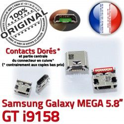 Chargeur Connecteur Pins GT charge Qualité Prise Connector de i9158 Dorés Micro Mega USB Duos ORIGINAL Galaxy souder Samsung à