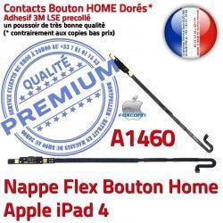Réparation Accueil Tablette Qualité iPad Apple Flex Nappe Poussoir Adhésif Remplacement Home Bouton Autocollant Châssis iPad4 A1460 4