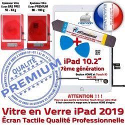 2019 PACK iPad B Adhésif Nappe HOME Qualité Démontage PREMIUM Precollé A2200 Outil A2197 Bouton Réparation Verre Blanche A2198 Tablette Vitre KIT Tactile