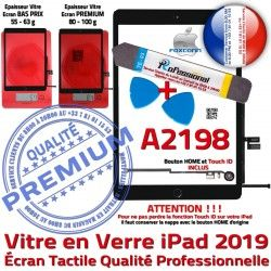 iPad Adhésif Réparation Noire PACK Bouton Qualité N Outils A2198 Tactile Verre Vitre Oléophobe KIT 2019 Precollé PREMIUM Démontage HOME