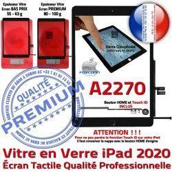 Caméra 2020 Verre Vitre iPad Adhésif A2270 Tactile Ecran Qualité Nappe Fixation IC HOME Oléophobe Noir Tablette Monté Réparation