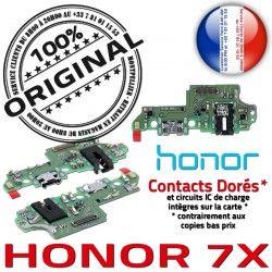Prise Nappe de OFFICIELLE Chargeur Honor 7X RESEAU JACK USB Antenne Câble Qualité Micro ORIGINAL Microphone Charge Connecteur