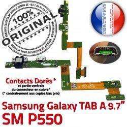 Réparation TAB OFFICIELLE MicroUSB Galaxy Chargeur Samsung SM-P550 A Qualité Connecteur SM Doré C ORIGINAL Charge de Nappe Contact P550