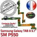 Samsung Galaxy TAB A SM-P550 C OFFICIELLE de SM Charge Réparation Qualité Chargeur Connecteur P550 Doré ORIGINAL Nappe Contact MicroUSB