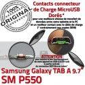 Samsung Galaxy TAB A SM-P550 C Charge Connecteur Réparation de ORIGINAL Contact SM MicroUSB Nappe P550 Qualité Doré OFFICIELLE Chargeur