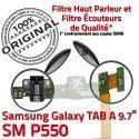 Samsung Galaxy TAB A SM-P550 HP Bouton Nappe Parleur Haut Connecteur Chargeur ORIGINAL Flex P550 Réparation HOME Charge de OFFICIELLE SM