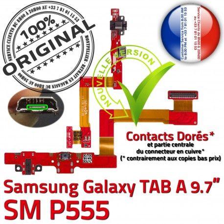 Samsung Galaxy TAB A SM-P555 C Charge MicroUSB Connecteur de Réparation Contact SM P555 OFFICIELLE Chargeur Nappe Doré ORIGINAL Qualité