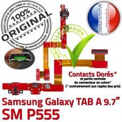 Charge Samsung USB MicroUSB Micro SM-P555 ORIGINAL de A SM OFFICIELLE Qualité Nappe Réparation Connecteur Doré Chargeur TAB P555 Contact Galaxy