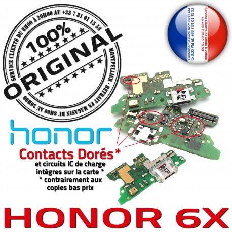 Honor 6X Charge Rapide Qualité ORIGINAL Connecteur OFFICIELLE Prise USB Microphone Antenne Nappe Chargeur RESEAU Micro Câble