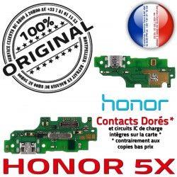 JACK ORIGINAL Qualité Nappe Téléphone Branchement Câble Antenne Charge USB OFFICIELLE PORT Micro Honor 5X Chargeur Microphone
