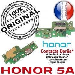 5A OFFICIELLE USB Charge Nappe Qualité PORT Microphone RESEAU Téléphone Huawei Antenne Prise Connecteur Honor ORIGINAL Chargeur