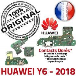 Microphone Prise Qualité OFFICIELLE Charge USB 2018 Huawei Antenne RESEAU Y6 Connecteur ORIGINAL DOCK Nappe Téléphone Chargeur