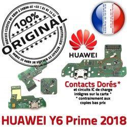 Prise OFFICIELLE Nappe Prime Microphone PORT ORIGINAL Antenne Y6 Qualité Huawei USB RESEAU SMA Chargeur Connecteur Charge 2018