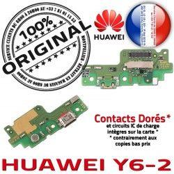 C Qualité Microphone Câble Huawei OFFICIELLE Branchement Prise ORIGINAL Charge PORT USB Antenne Nappe Chargeur Y6-2 Micro