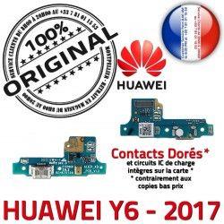 Chargeur Nappe Qualité Y6 Antenne RESEAU OFFICIELLE Charge USB Téléphone Microphone ORIGINAL Prise 2017 Connecteur Huawei PORT