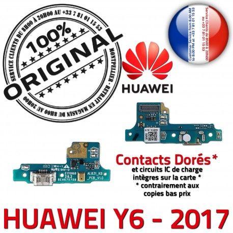 Huawei Y6 2017 Prise Alim Micro JACK Microphone ORIGINAL Téléphone Antenne Qualité Nappe Câble PORT USB Charge Alimentation Chargeur