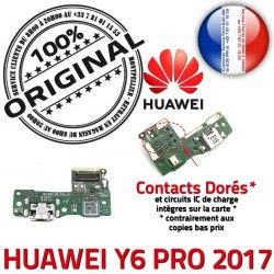 Microphone Charge 2017 Chargeur Y6 Qualité USB Connecteur PRO Huawei OFFICIELLE Antenne ORIGINAL Téléphone Nappe RESEAU Prise