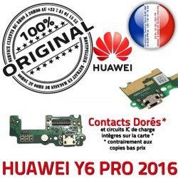 ORIGINAL Connecteur USB PRO Qualité Antenne Microphone Y6 RESEAU 2016 Nappe OFFICIELLE Chargeur Charge Huawei Prise Téléphone