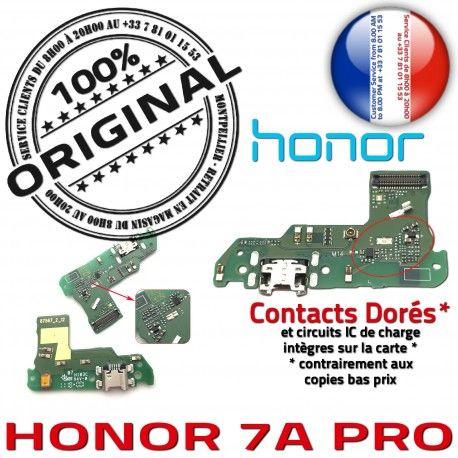 Honor 7A PRO USB Micro Prise RESEAU MicroUSB ORIGINAL Chargeur Microphone Antenne Nappe Câble Qualité JACK Charge de Connecteur OFFICIELLE