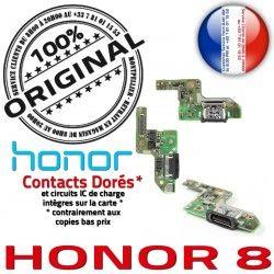 Nappe Honor Audio Casque 8 Micro AUDIO JACK USB PORT Qualité Type-C Câble Antenne Charge Téléphone Chargeur ORIGINAL Microphone Prise
