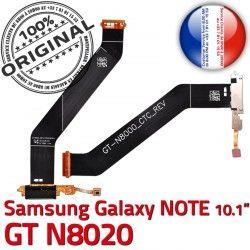 ORIGINAL Connecteur Galaxy OFFICIELLE de Ch Réparation GT-N8020 Nappe Qualité NOTE Dorés Contacts MicroUSB Chargeur Charge Samsung