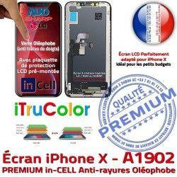 X Super True Tone Affichage Vitre Retina inCELL iPhone Apple Cristaux HD pouces SmartPhone Tactile Liquides 5,8 PREMIUM 3D A1902
