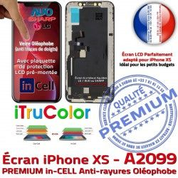 inCELL Cristaux XS Apple 5,8 Retina Affichage Liquides Tone True Tactile Vitre in SmartPhone Écran A2099 iPhone PREMIUM Super